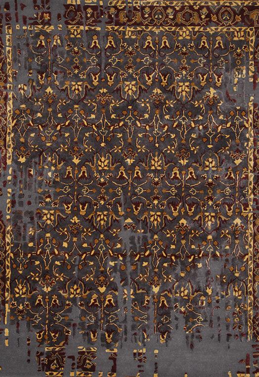 Red grey best designer carpets delhi
