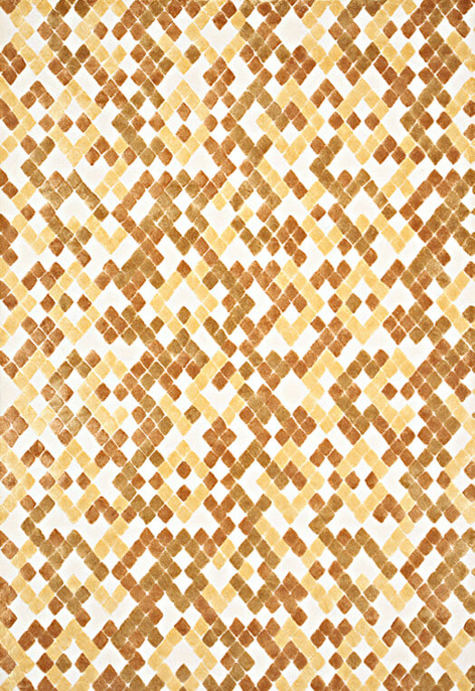 Diamond design carpets for home Mumbai Gold Ivory Carpets & Rugs