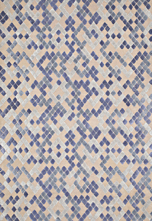 Gold ivory diamond design carpets and rugs Bengaluru Blue Taupe Carpets & Rugs