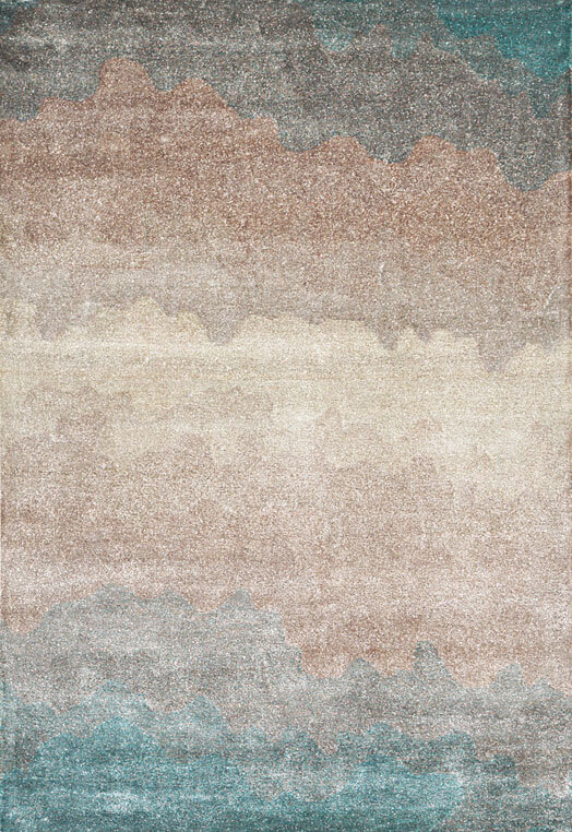 hand tufted carpets in botanical silk and wool Bengaluru Blue  Carpets & Rugs