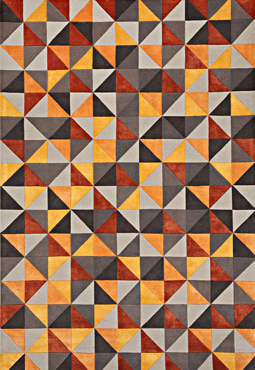 Contemporary carpets for bedroom Delhi Rust Beige Carpets & Rugs