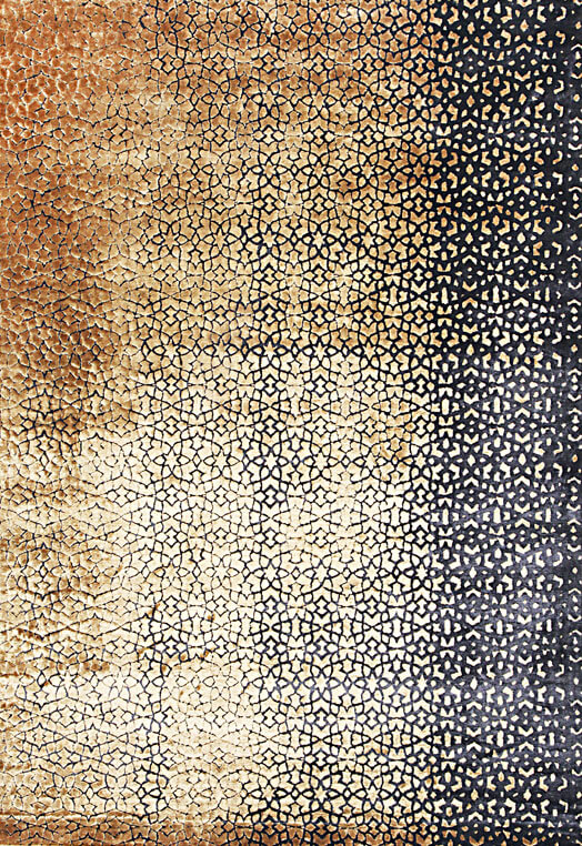 black and gold handmade area rugs urbane collection Black & White Carpets & Rugs