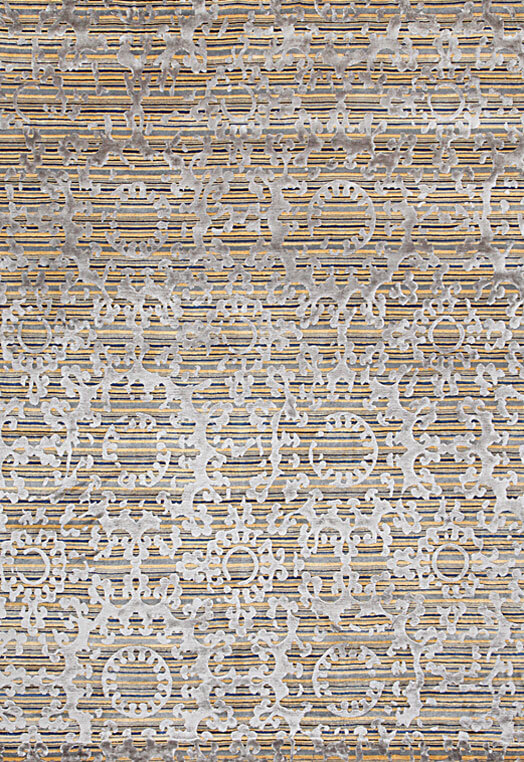 Gold grey color residential carpets in Bengaluru Blue Ochre Carpets & Rugs
