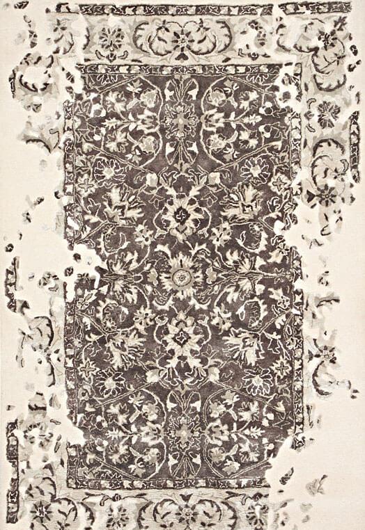 beige brown hand tufted designer carpets Delhi