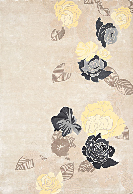 Beige yellow hand knotted carpets stores Bengaluru Yellow Grey Carpets & Rugs