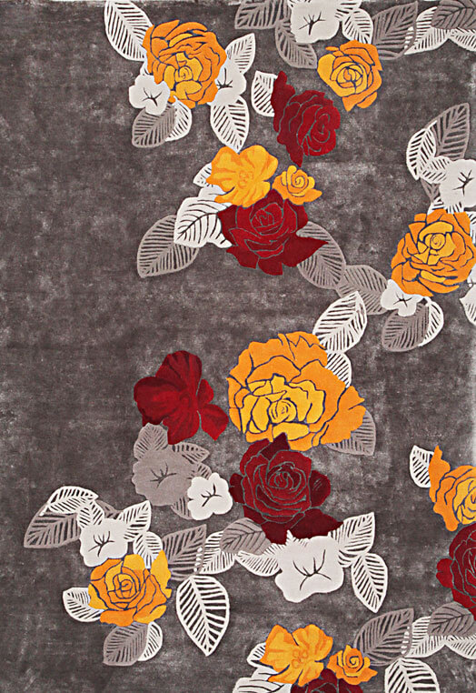 grey gold floral pattern modern carpets in Delhi Gold Red Carpets & Rugs