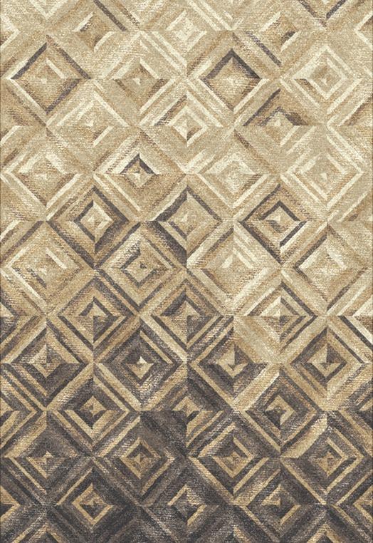 Lozenge Grey Beige Grey Beige Carpets & Rugs