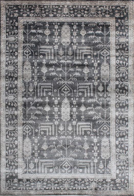 MARGITA Charcoal Carpets & Rugs