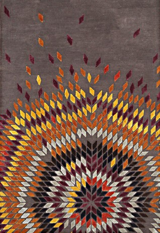Chevron Charcoal Gold Carpets & Rugs