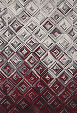Lozenge Red Grey Carpets & Rugs