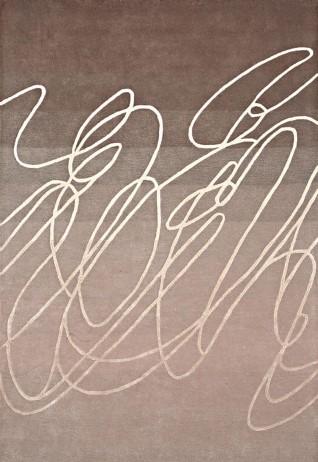 Scribble Beige Brown Carpets & Rugs