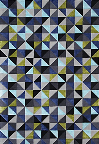 Solitaire Blue Green Carpets & Rugs