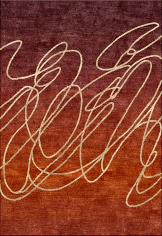 Scribble Rust Carpets & Rugs