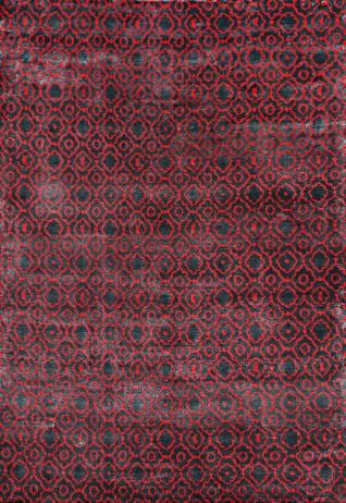Blossom Red & Black Carpets & Rugs