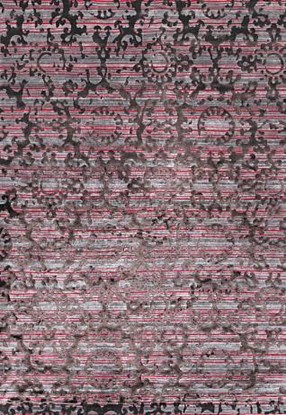 Fleur Fuchsia Grey Carpets & Rugs
