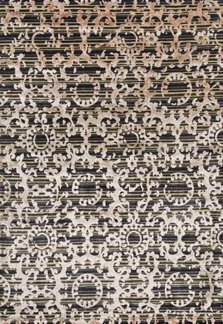 Fleur Green Gold Carpets & Rugs