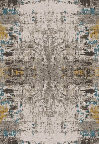 Mirall Blue Gold Carpets & Rugs