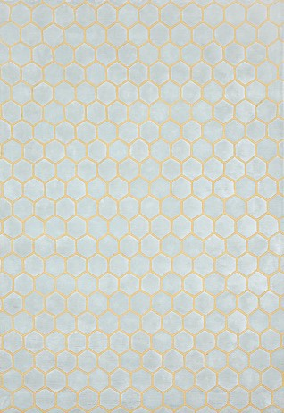 Honeycomb Yellow Grey Carpets & Rugs