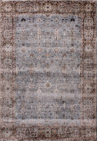 RUBINE Light Blue & Brown Carpets & Rugs