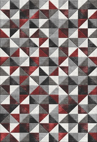 Solitaire Red & Black Carpets & Rugs