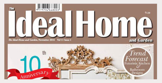 Blue is trending, and The Ideal Home and Garden Magazine loves our Zaiba Brown Blue carpet.