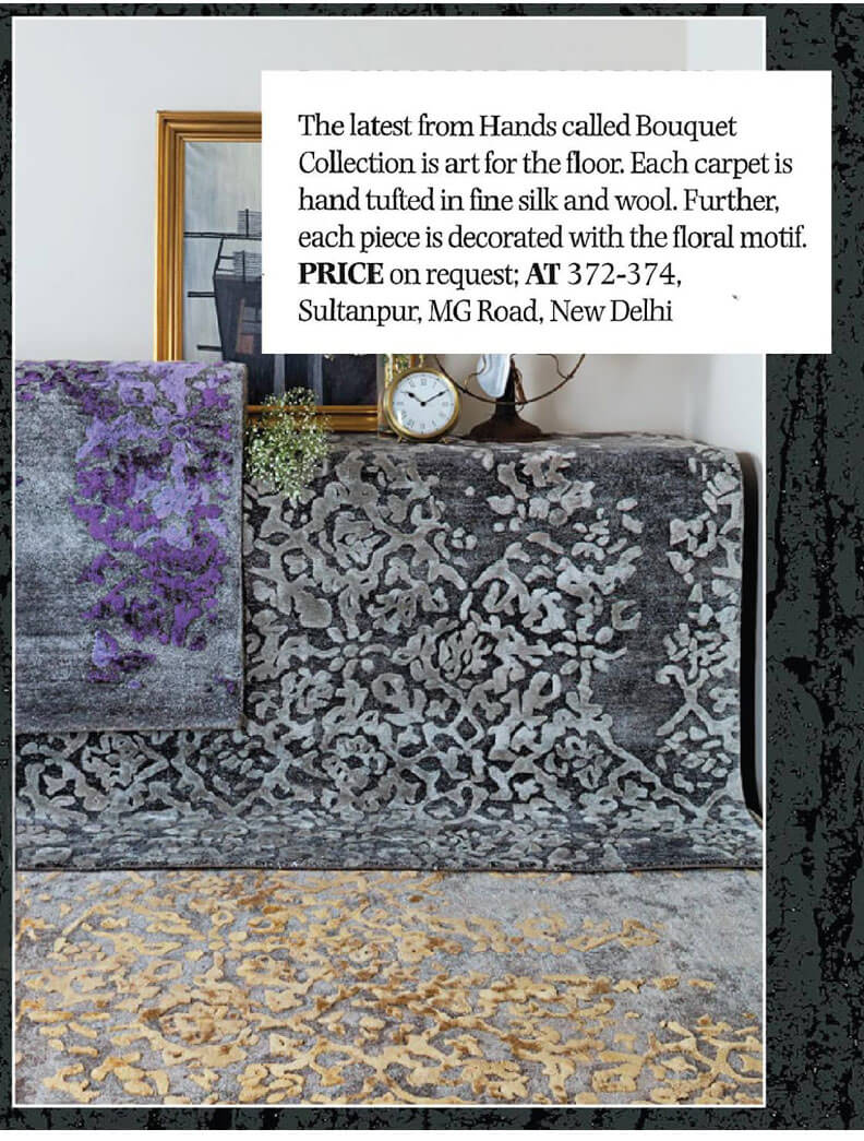 India Today Home magazine`s feature of the Hands Bouquet collection in their October 2016 issue.