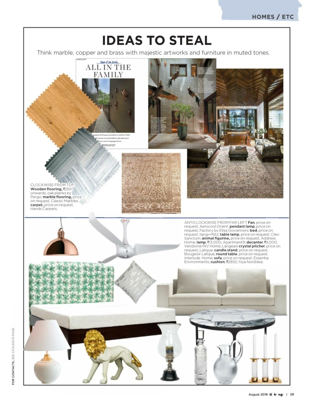 Press Coverage - Hands - Living etc August